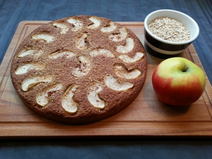 Havermout appelkoek